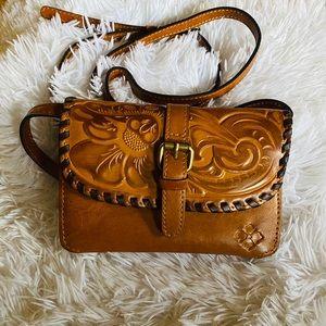 Patricia Nash tooled leather shoulder bag NWT